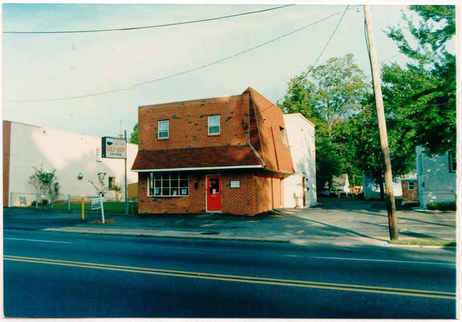 A picture of the old golf shop that is now our Folsom, PA location.