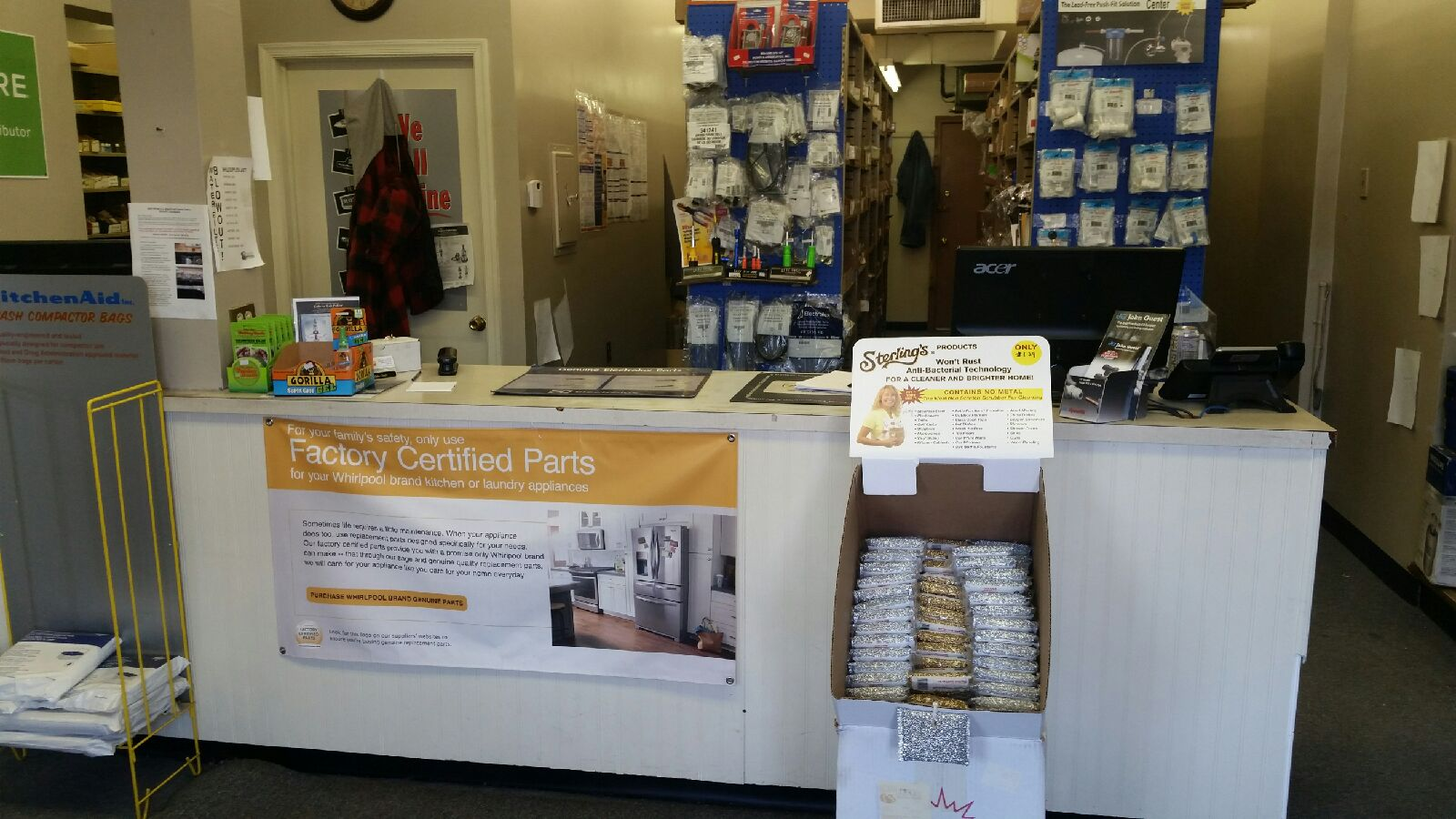 A picture of the Havertown, PA counter area.
