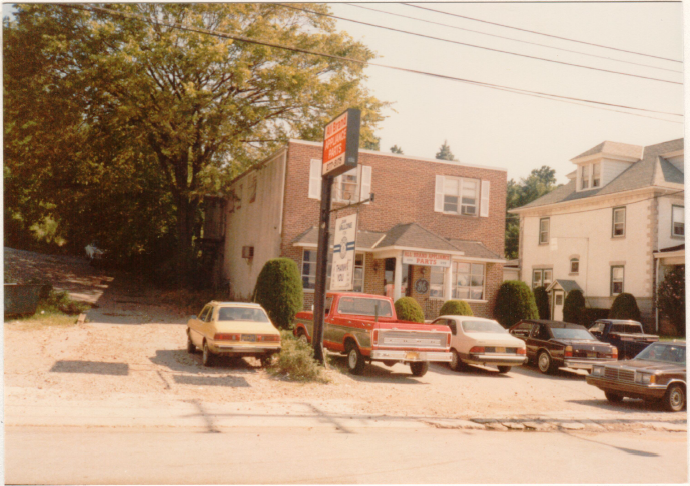 A picture of the Norristown, PA storefront in 1989.